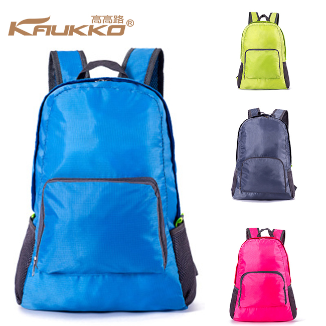 KAUKKO Korean Popular Version of the Travel Bag Polyester Waterproof <strong>Backpack</strong> Outdoor Lightweight Folding <strong>Backpack</strong>