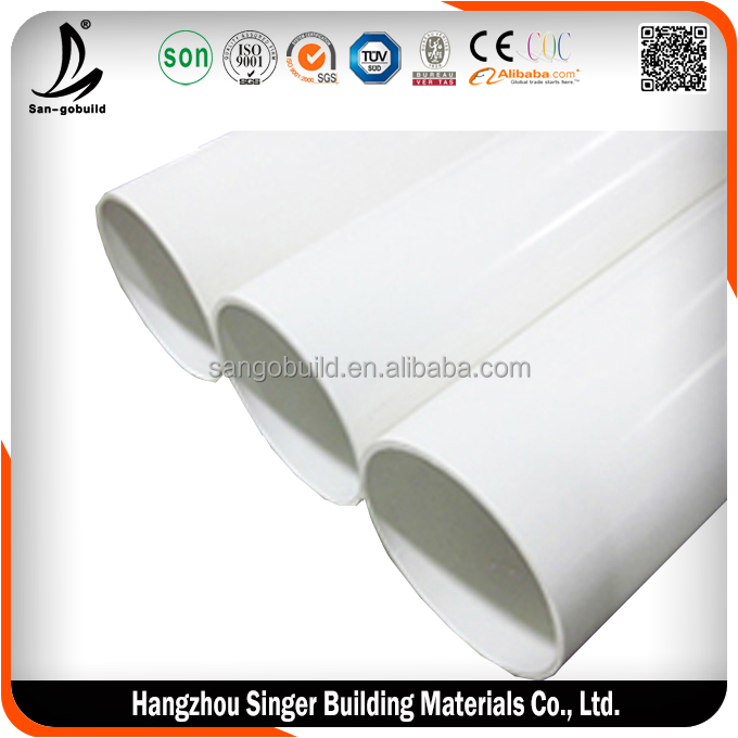 Hot sale 12 inch diameter cheap pvc pipe, low price agricultural pipe