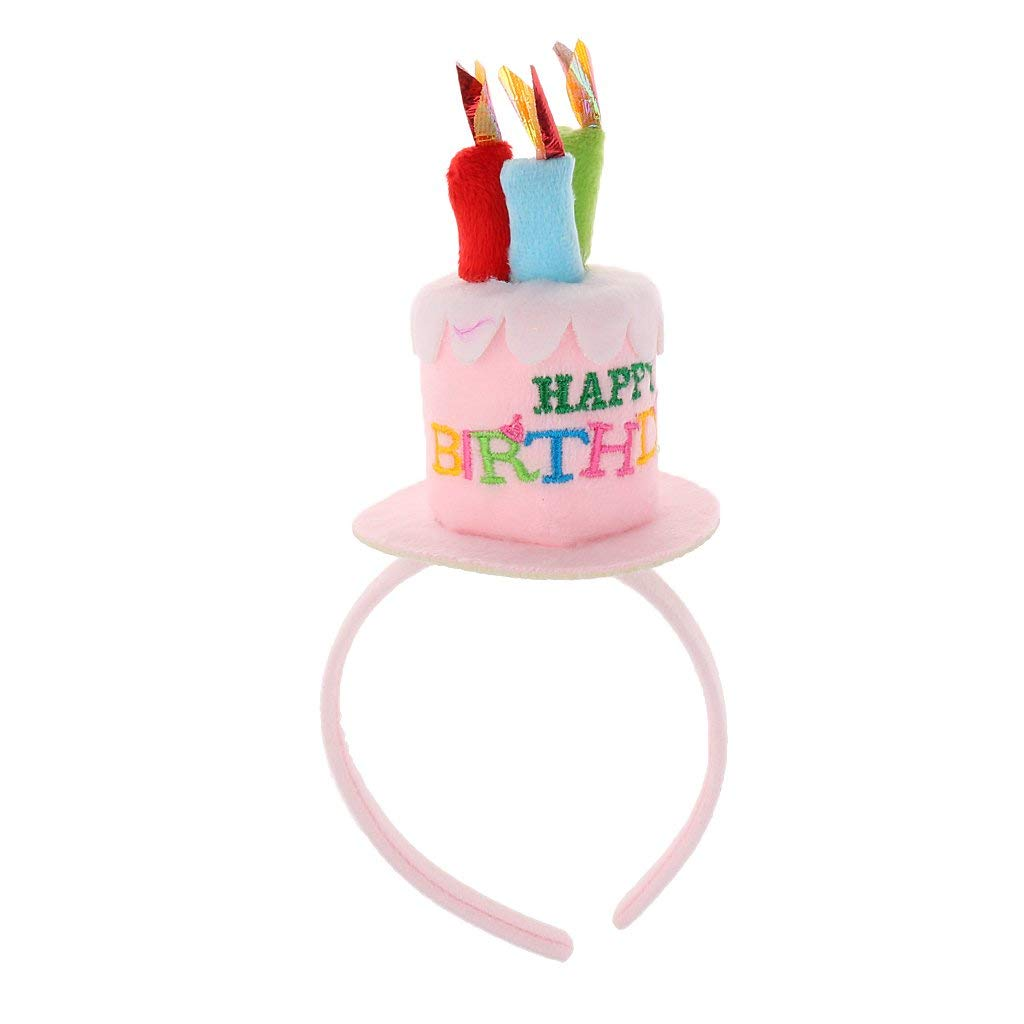879193776 Buy Plush Felt Birthday Cake With Candles Hat for Adults in Cheap ...