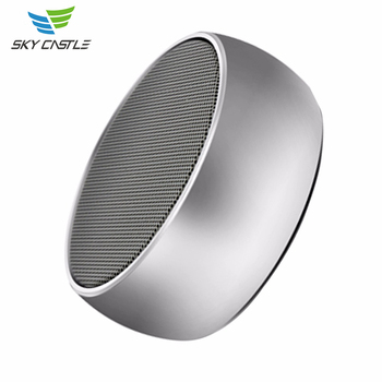 2017 oem mini sounder portable metal round bass music subwoofer wireless bluetooth speaker promotion for Christmas present