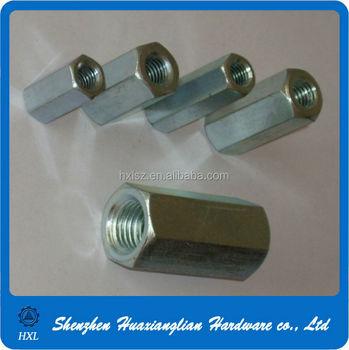 Din 6334 Stainless Steel Zinc Plating Hexagonal Female Standoff Long  Coupling Nut - Buy Hex Nut,Long Coupling Nut,Stainless Steel Nut Product on