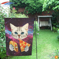 Meyatoo cheap DIY funny cat garden flags wholesale with flag pole