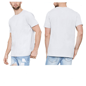 white cotton blank plain men's custom tshirt