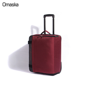 2018 direct sale new fashion purple color two wheels muti functional folding luggage