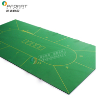 custom poker design large scaled printed rubber mats