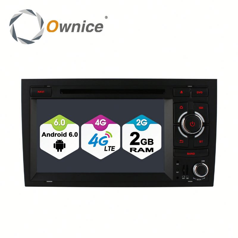 Ownice 8 core Android 6.0 Car DVD for Audi A4 S4 RS4 2002-2008 Built in 4G LTE 2G RAM Support steering wheel