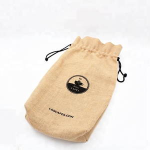 New Design drawstring large Potato Sack Burlap produce storage bag