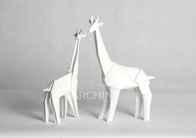 moderne minimalistische mode keramik origami giraffe dekoration zu hause gro handelsmodell. Black Bedroom Furniture Sets. Home Design Ideas
