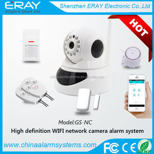 PTZ full rotate balcony security system with wifi detector