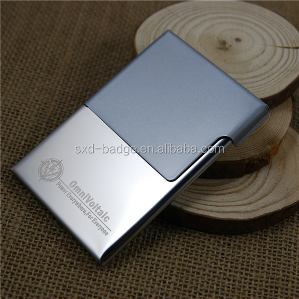 2015 hot selling China supplier low price logo diy distribuidor metal luxury business card case of gifts for business