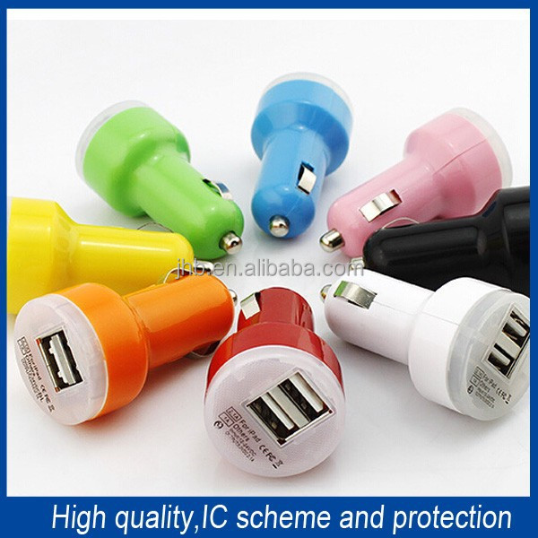 Best Selling 2A <strong>Portable</strong> for Iphone Samsung <strong>Portable</strong> Car Charger /Dual USB Car Charger