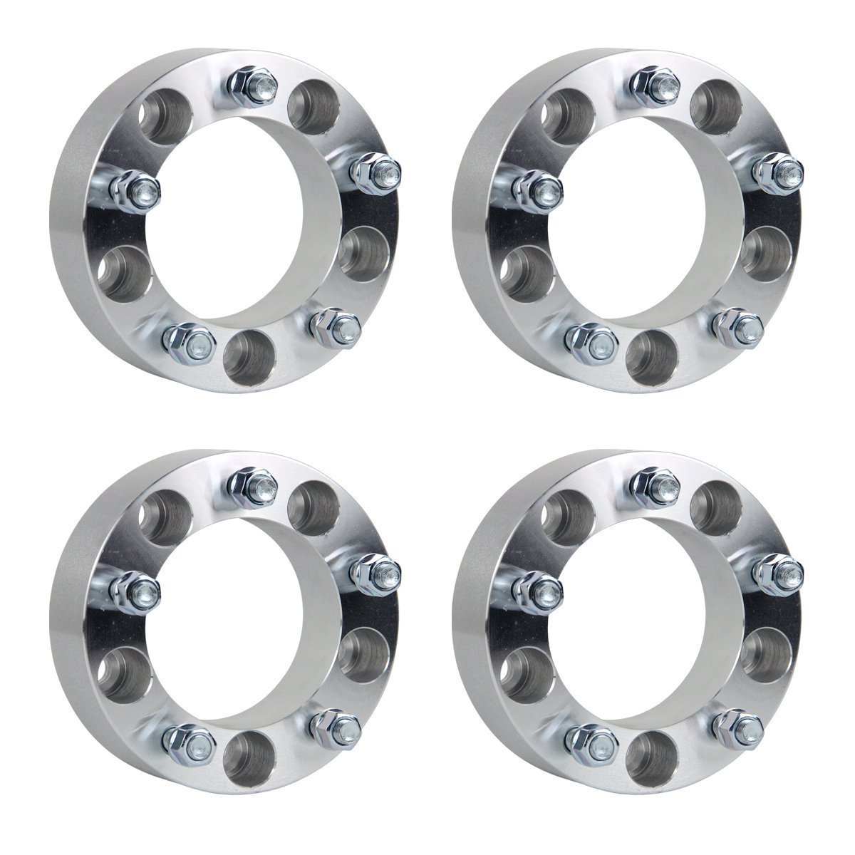 "RACPLUS 4pcs 2"" 5x5.5 to 5x5.5 (5x139.7 to 5x139.7) Wheel Spacers 1/2"" studs for Ford E150 Ford F150 Ford Bronco Dodge Ram 1500 Ramcharger Jeep CJ"