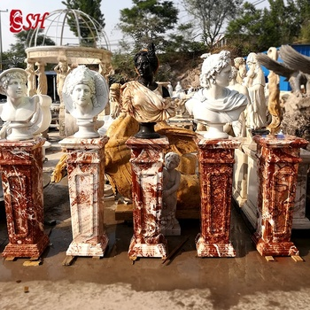 Customized color natural marble hand carved marble base for statue