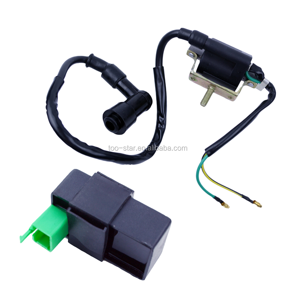 Ignition Coil And 5pin Cdi Box 4 Stroke Go Kart Moped Atv 50cc 70cc 90cc  110cc 125cc - Buy Ignition Coil,Cdi Box,Ignition Coil And Cdi Product on