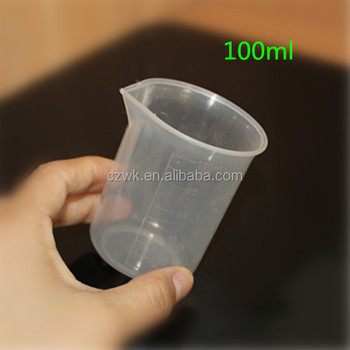 Different Sizelaboratory Clear Plastic Beaker With Spout And ...