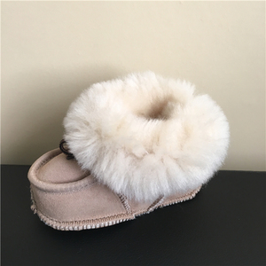 Sheepskin baby walking shoes baby moccasins china factory