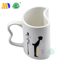 Personalized lovers white ceramic mug sublimation couple mugs as promotional gift