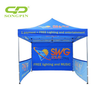 3x3m small steel folding gazebo, waterproof canopy tent with PVC coated,light tent foradvertising