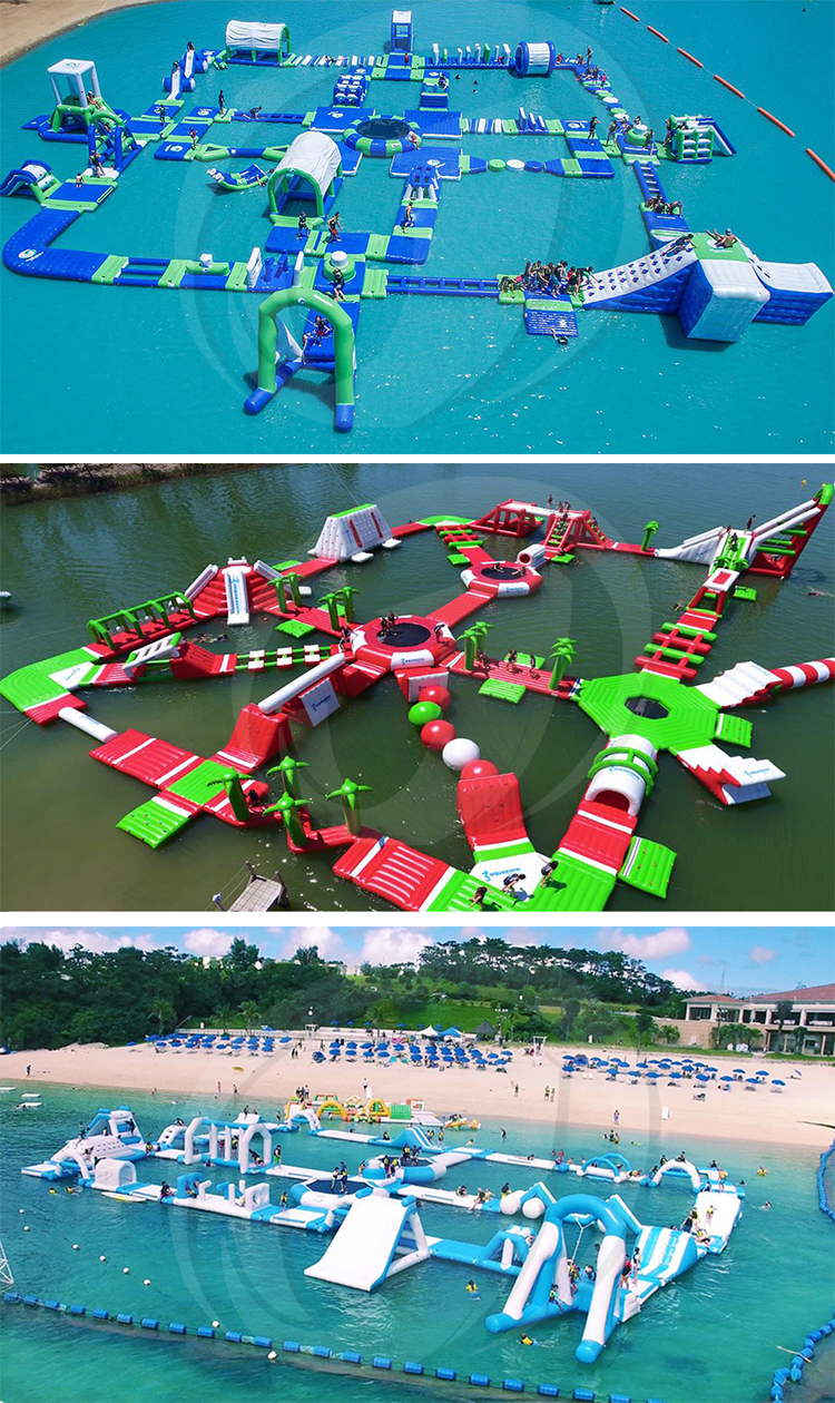 Inflatable Water Obstacle Course Aqua Park Equipment Floating Sea Water Park