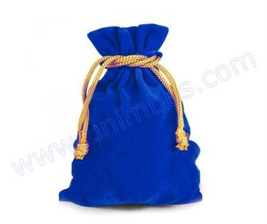 navy blue velvet pouch for jewelry