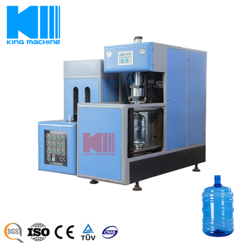 Semi-Automatic 5 Gallon Plastic Bottle / Bucket / Barrel Blowing Facility KING MACHINE
