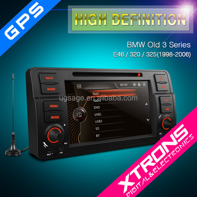 "PF7246BGTD 2016 new Xtrons 7"" touch screen 1din car dvd player for BMW E39 with MPEG-4 TV"