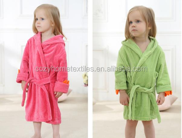 Enfants Peignoir Robe De Chambre Enfants Coton Capuchon Ceinture SALE Offre Spéciale