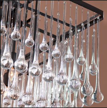 Decorative Chandelier Lighting Crystal Glass Raindrops Drops Parts ...