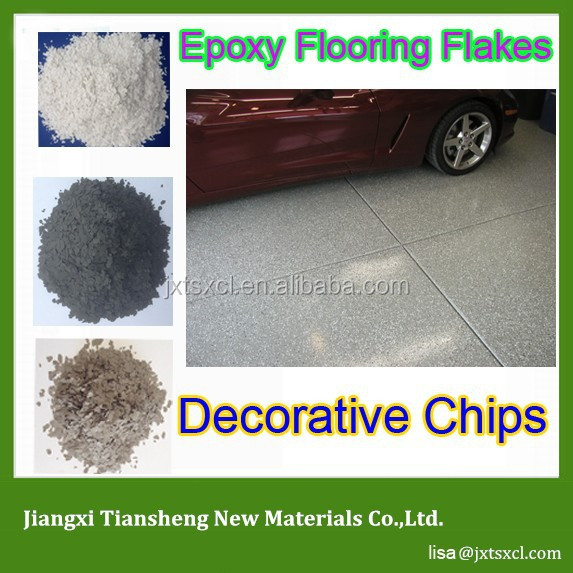 Popular Decorative concrete Epoxy Shield Color Chips Flooring