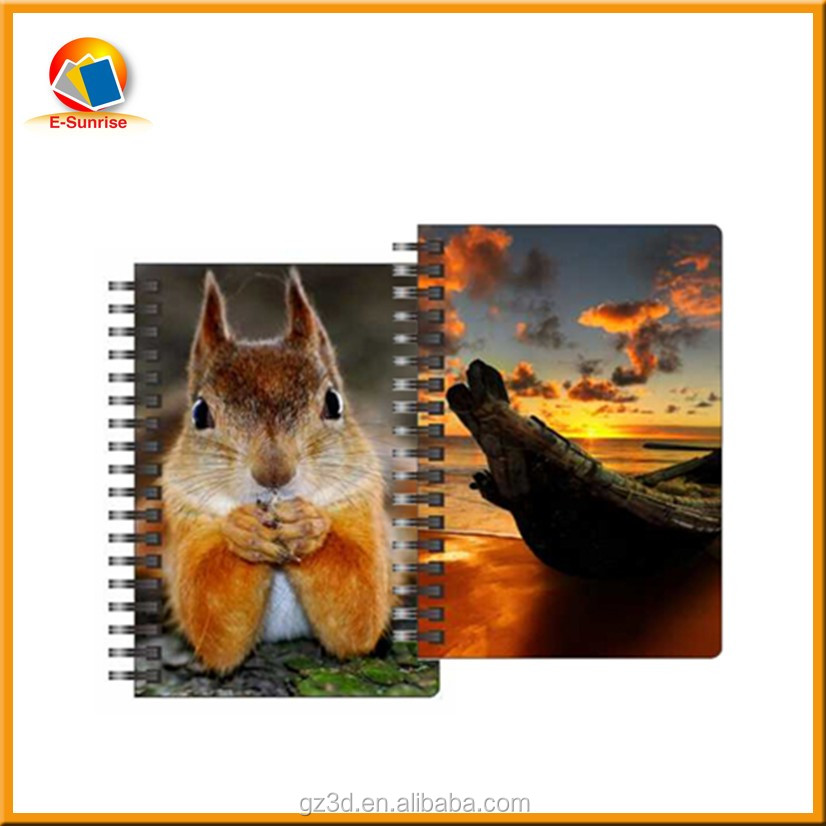 souvenir product lovely cat notebook a5 lenticular dairy