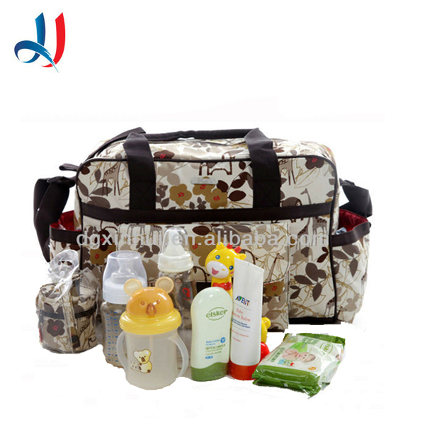 wholesale Fashion multi functional large waterproof travel baby diaper bag big capacity mommy bag Storage Tote Shoulder duffle b