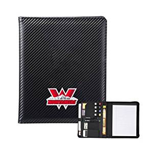 Western Carbon Fiber Tech Padfolio 'Interlocking W Mountaineers - Official Logo'