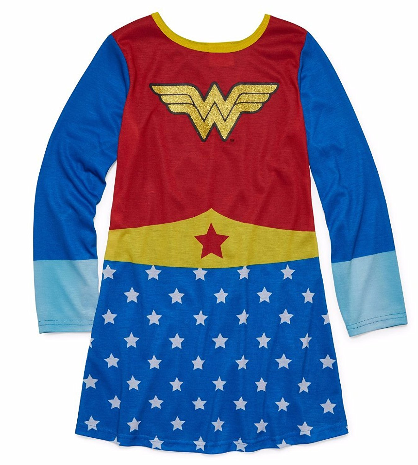1f980992 Get Quotations · DC Comics Girls' Wonder Woman Pullover Nightgown