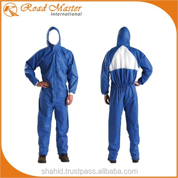 Navy Blue Fire Retardant Coverall With Hood