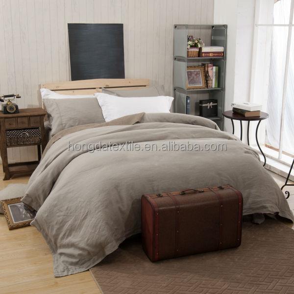 Linen Bed Sheets , Stone Washed Linen Bedding Bed Sheet Set
