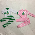 Wholesale the popular christmas ret pajamas outfit baby girls and boys clothes