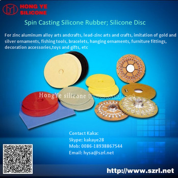 Htv Spin Casting Silicone Disc For Zinc-alumimum Alloy Crafts And ...