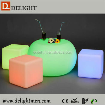 Multi Size LED Cube Chairs Light Seat/led Bar Chair