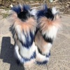 2019 Hot Sale Custom Tall warmful Faux Fur Boots for women