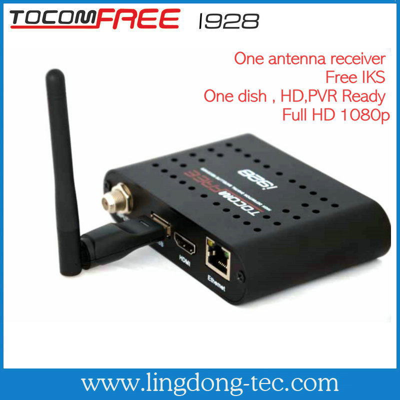 Tocomfree i928 with internet connection for south america satellite decoders nagra 3