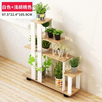 Garden Planter Ladder Storage Shelves Rack Flower Pot Stand Layer Frame