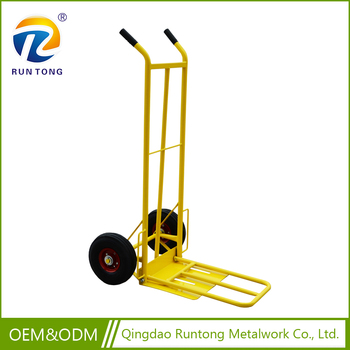 Wholesale High Quality Metal Stainless Steel Garden Tool Push Cart Hand  Trolley