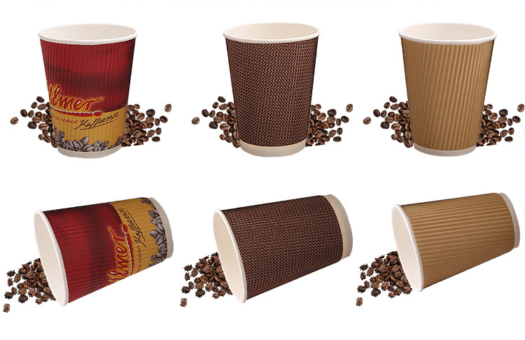 Beverage Use and Ripple Wall Style Eco friendly paper cup raw material
