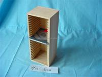 Tall design cheap melamined wooden CD display rack