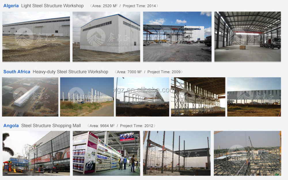 China metal warehouse prefabricated steel buildings plan