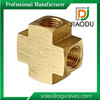 "Pex Forged 3/4"" Brass Coupling Fitting Female Threaded Cross"