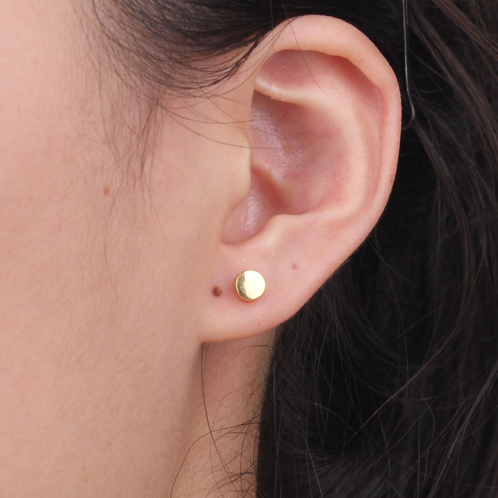 men stud earrings teens for disc guys flat cool rockers gallery l gold