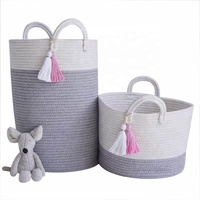 Best sale fabric weave baby toy clothes storage basket