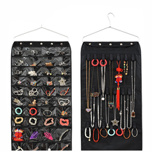 Black 210D polyester Large jewelry organizer hanging