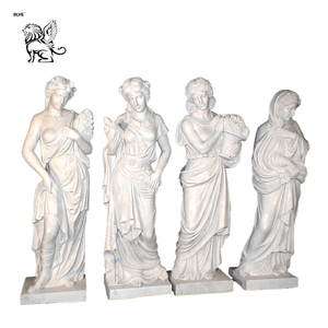 life size garden 4 seasons ladies females marble statue with bases MSL-117